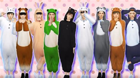 video exo   animal costume makeover   sims