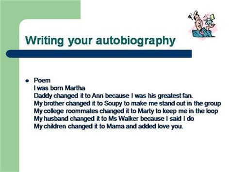 biography autobiography ppt ks2 autobiography outline authorstream