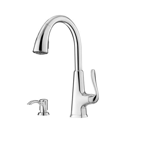 Pfister Pasadena Kitchen Faucet Pfister Pasadena Single Handle Pull Sprayer Kitchen Faucet With Soap Dispenser In Polished