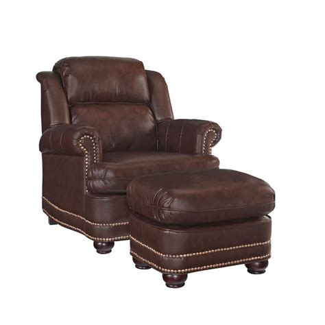 Accent Chair And Ottoman Accent Chair And Ottoman In Brown 5200 100