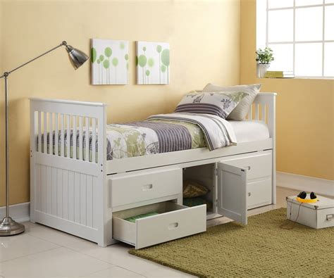 The Porto Captains Bed Single White Captains Storage Bed Single Bed With Storage