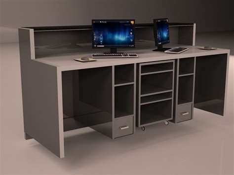 Check In Desk Furniture by Check In Desk 3d Model Max Cgtrader