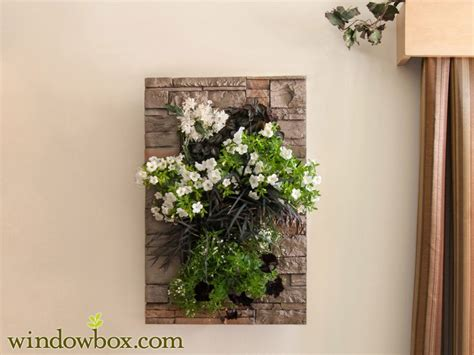 indoor living wall kit  modern frame stacked stone