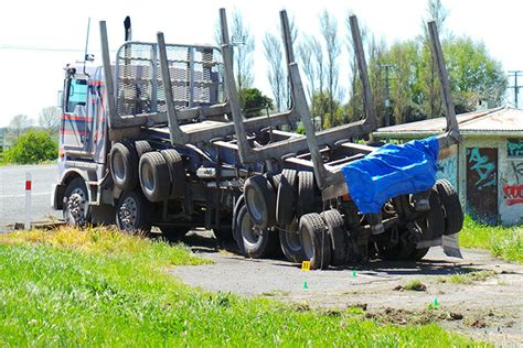 trucks crash sunlive truck crash victim named the bay s