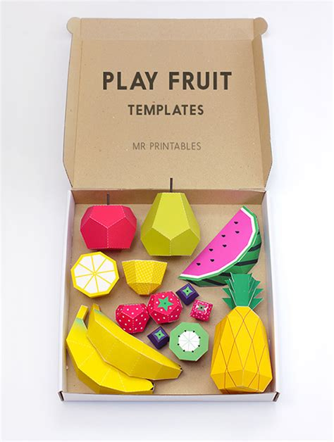 How To Make Fruit Out Of Paper - paper fruit mr printables