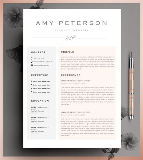 Resume Templates Zip by Creative Resume Template Cv Template Instant By Cvdesignco