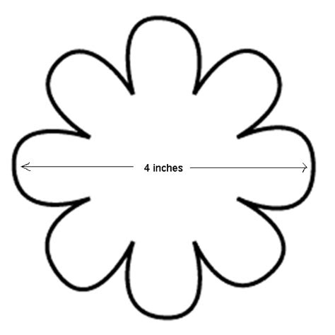 flower template with 6 petals 8 petal flower template cliparts co