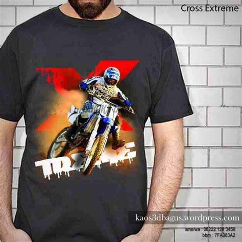 Seragam Cross Kaos Motocross Kaos Trail 3d Kaos 3d Gambar Trail