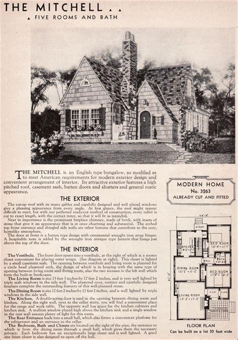 sears mitchell kit house english cottage style
