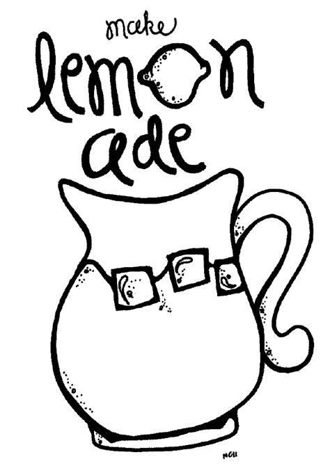 cup of lemonade coloring coloring pages