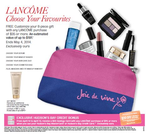 An Awesome Gift With Purchase From Lancome At Nordstrom by Hudson S Bay Hbc Canada Freebie Free Custom 8