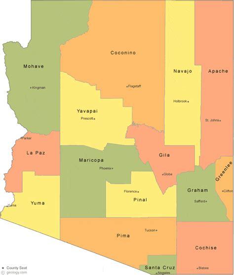 map of arizona with counties arizona county map