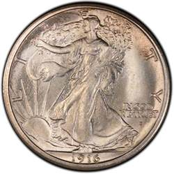 1916 walking liberty half dollar values and prices past