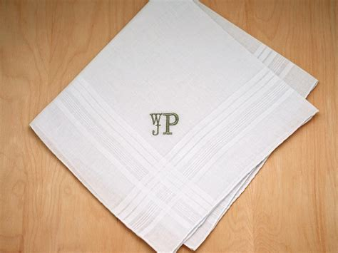 Wedding Font Initials by Mens Monogrammed Wedding Hankie W 3 Initials Font R Stacked