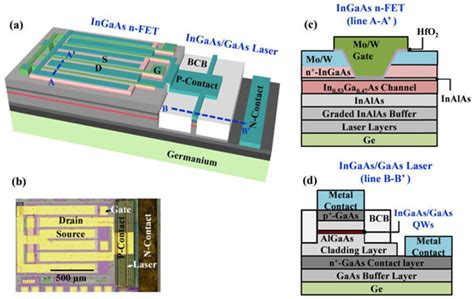 monolithic optoelectronic integrated circuits monolithic iii v transistors and laser diodes integrated on germanium