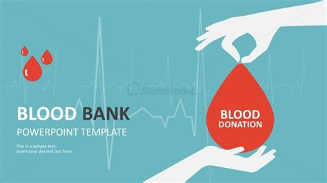 Colorful Blood Bank Powerpoint Template Slides Slidemodel Blood Donation Ppt Template Free