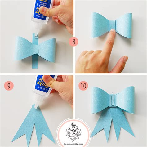 paper ribbon template diy paper bow garland