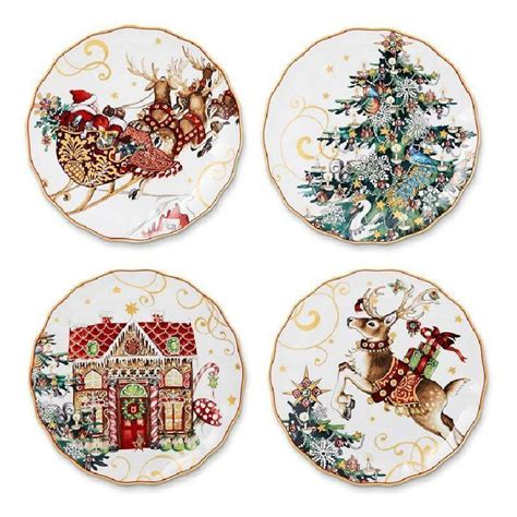 williams sonoma christmas plates ebay