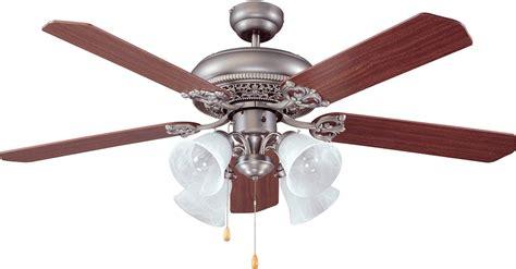 antique nickel ceiling fan craftmade man52an5c4 manor antique nickel 52 quot home ceiling