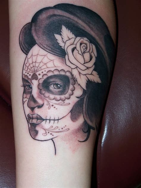 sugar skull lady tattoo designs new november 2011