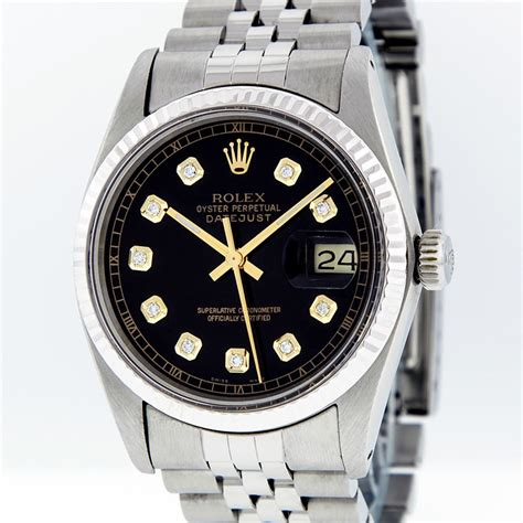 Rolex 562 Semi Premium Rolex Mens Stainless Steel Datejust Wristwatch