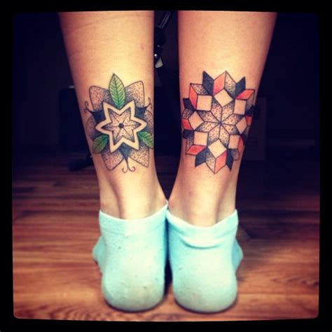 mandala leg tattoo on mandala owl tattoos and mandala