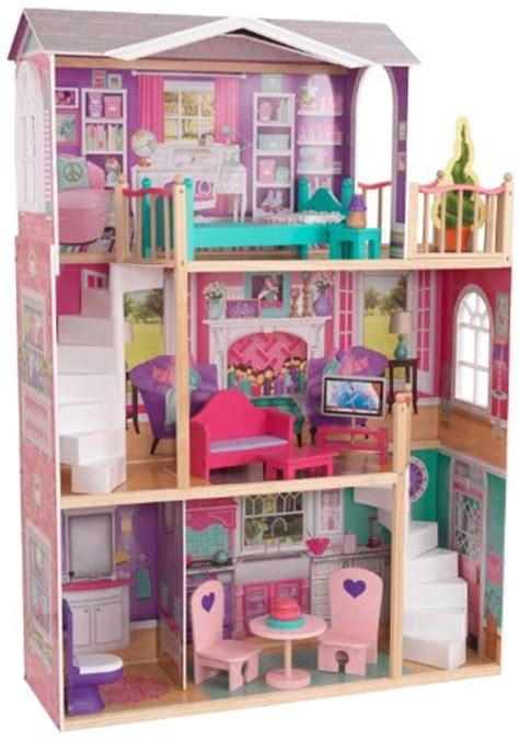 kidkraft 18 inch doll house kidkraft elegant 18 inch doll manor dolls house dollhouse furniture miniature ebay