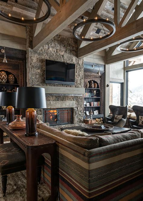 log cabin style meets ethnic  modern interior design