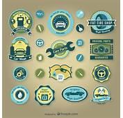 Vintage Car Service Badges Vector  Free Download
