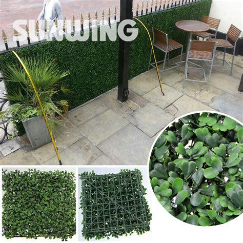 10pcs lot 60x40cm artificial boxwood hedges panels plastic baby fence promotion shop for promotional plastic