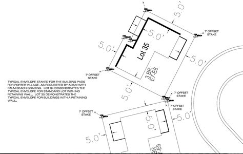 layout marking of building construction staking land development professionals llc