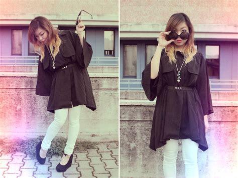 23348 Sweet In Black angela bethea crepe jacket forever 21 denim in white wedge shoes vintage