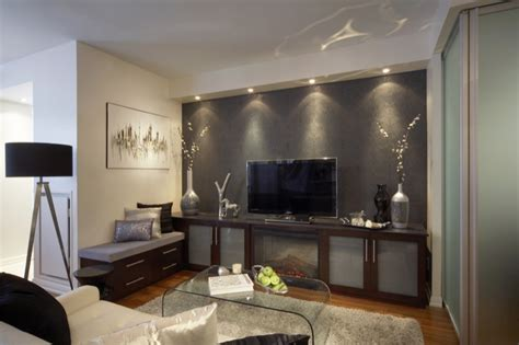 Frosted Glass Media Cabinet   Contemporary   media room