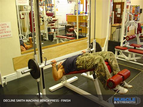 guided bench press machine decline smith machine bench press video exercise guide