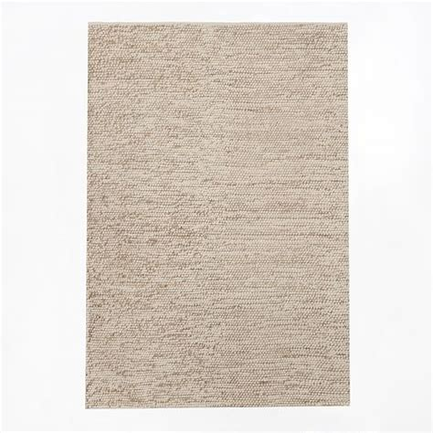 pebble wool rug mini pebble wool jute rug ivory west elm