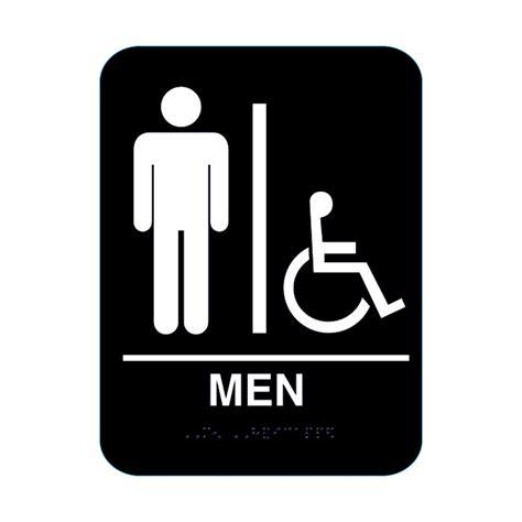 handicap bathroom sign men handicap restroom sign with braille black cr bl mh68