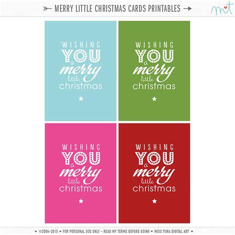little printable christmas cards merry christmas everyone