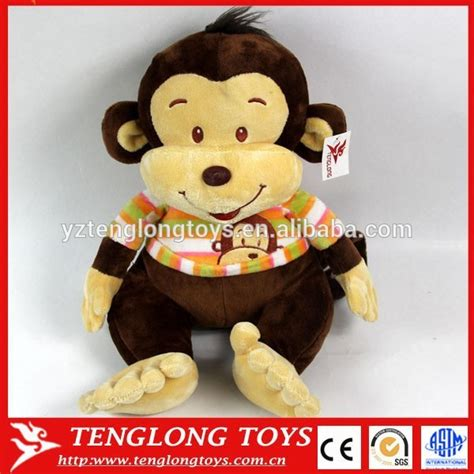 cute cartoon monkey names plush toy with cloth for