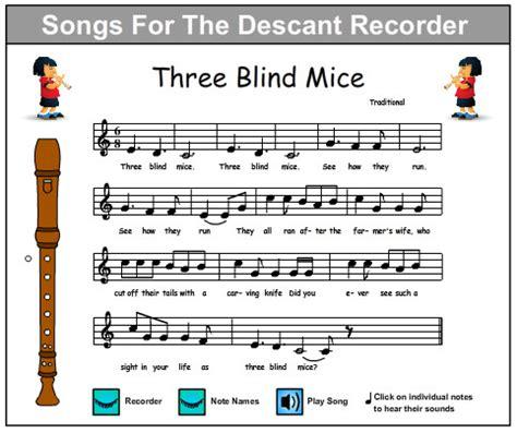 Three Blind Mice Recorder three blind mice skills interactive