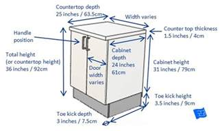 what is standard kitchen cabinet height kitchen cabinet dimensions