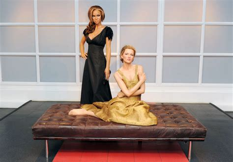 Kate Moss Gets Waxed by Kate Moss In Kate Moss And Banks Wax Figures Zimbio