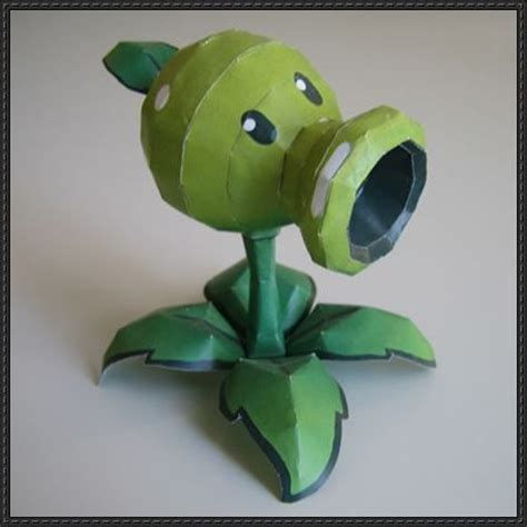 Plants Vs Zombies Paper Crafts - plants vs zombies peashooter ver 2 free papercraft
