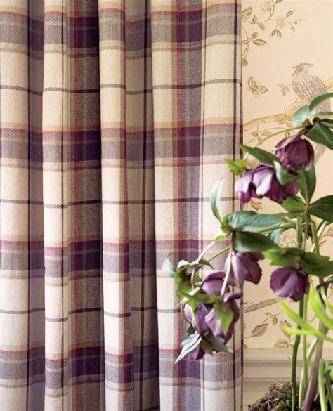 Highland Check Grape Fabric Home Home Decorating And