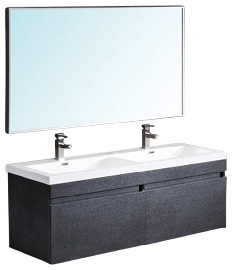 Bathroom Vanities With Sinks And Faucets by Largo Black Vanity Wavy Sinks Fortore Chrome