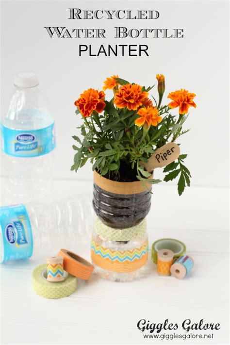 Water Bottle Planter by Recycled Water Bottle Planters Giggles Galore