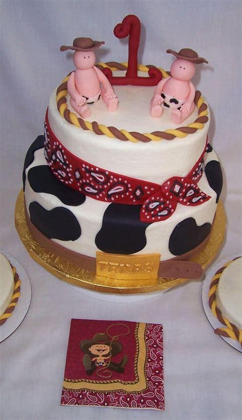 twin boy st birthday cake cowboy theme cakecentralcom