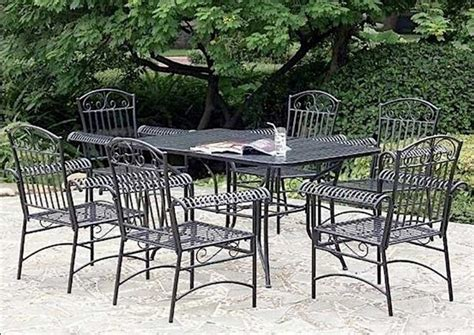 Furniture Seat Outdoor Dining Set Winchester Seat Teak Wrought Iron Patio Furniture Vintage