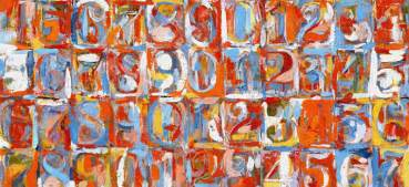 jasper johns numbers in color numbers may not anything the box is there for a