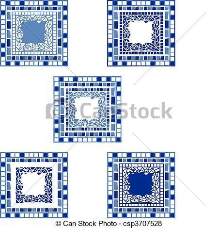 cornici mosaico vettore di cornici mosaico illustrazione di mosaico