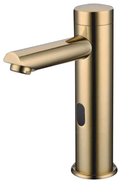 gold tone bathroom faucets solo gold tone sensor faucet contemporary bathroom